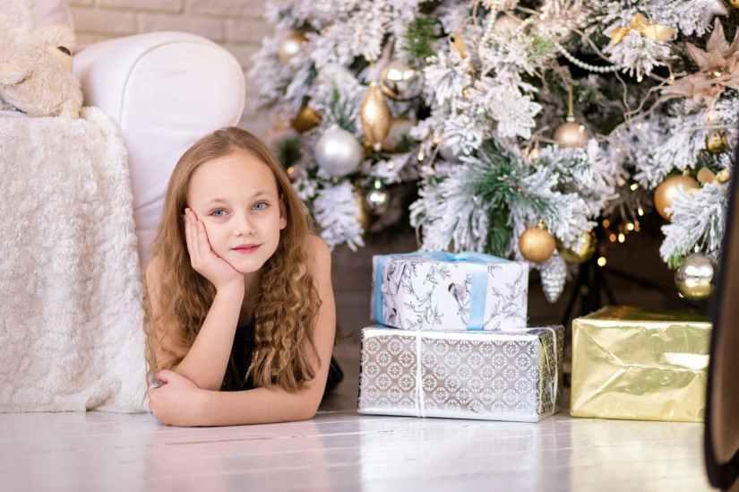 adorable caucasian celebration child
